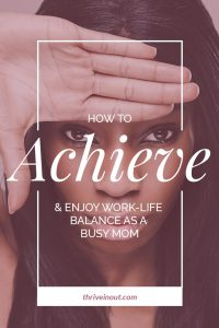 achieve work life balance poster