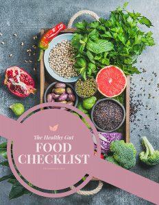healthy gut food checklist