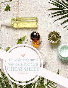 natural skincare products cheatsheet