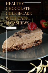 Healthy Chocolate Cheesecake with Oats and Cashews