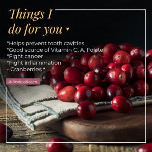 thriveinout cranberries