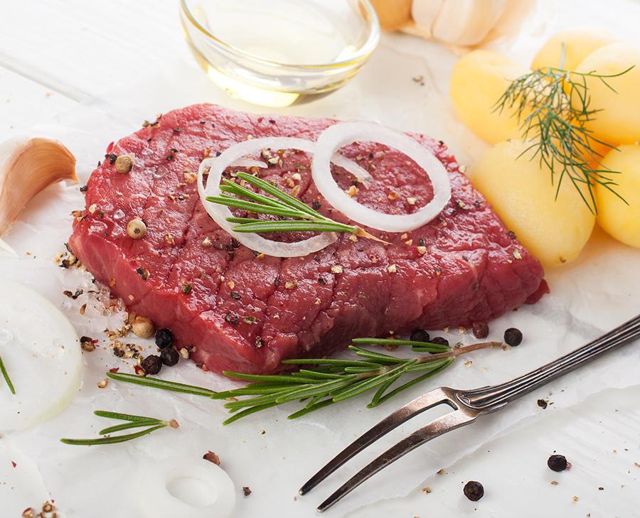 yummy beef steak salad