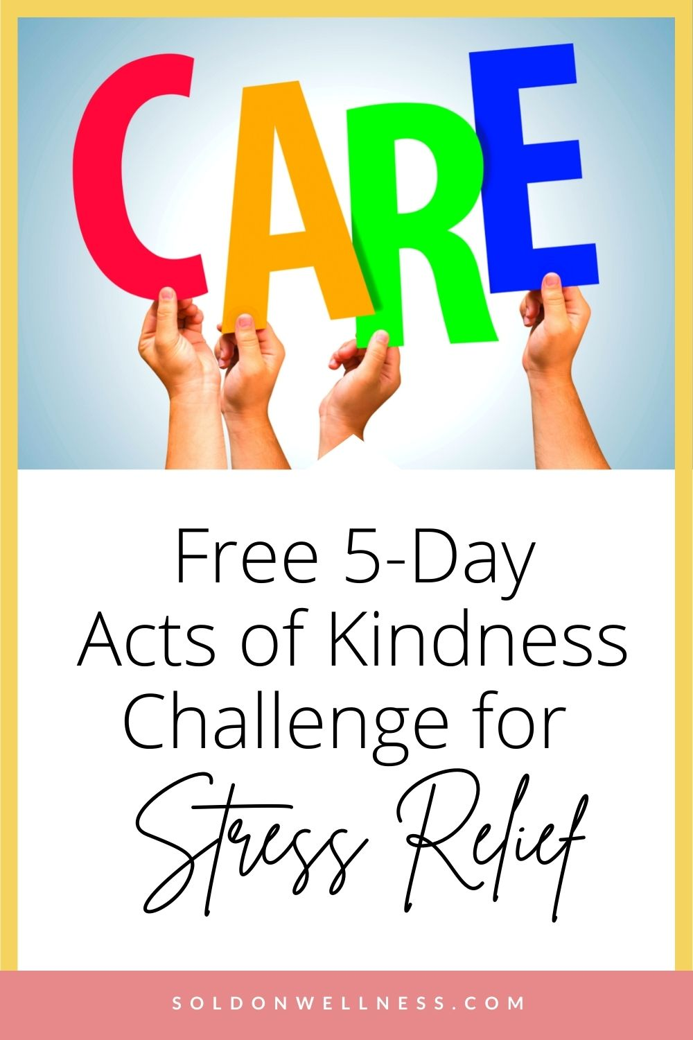 acts of kindness for stress relief